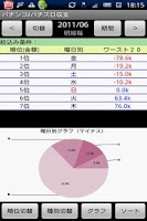 Screenshot of パチンコ/パチスロ収支