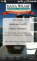 Screenshot of Dana Wharf Fish Count