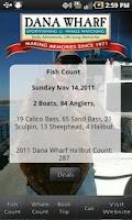 Screenshot of Dana Wharf Fish Count