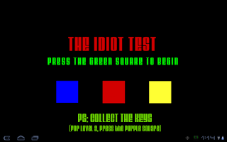 Screenshot of Idiot Test