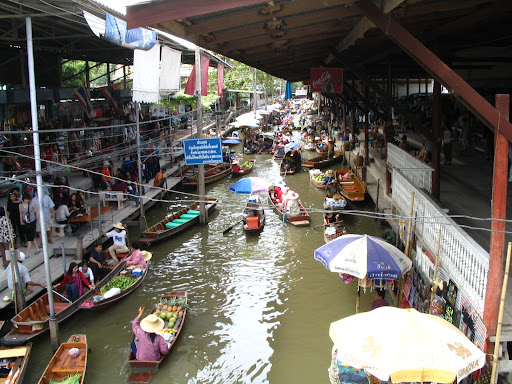 Floating Market - bardzo niedaleko Bangkoku