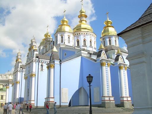 Kijów - cerkiew św. Michała - wersja błękitna