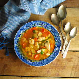 Spicy Seafood Soup with Ginger Broth