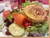 Ensalada verde con queso de cabra
