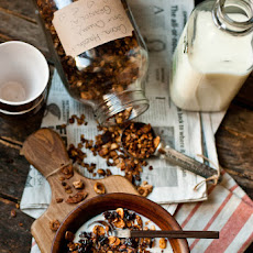 Cocoa Hazelnut Granola with Sour Cherries