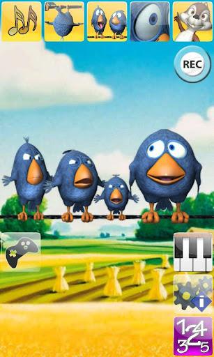 說話的鳥兒在電線上