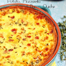 Potato, Mozzarella and Bacon Quiche
