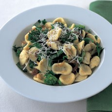 Orecchiette with Sprouting Broccoli, Pine Nuts and Sultanas