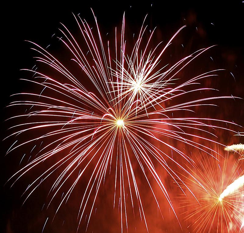 A starburst of fireworks