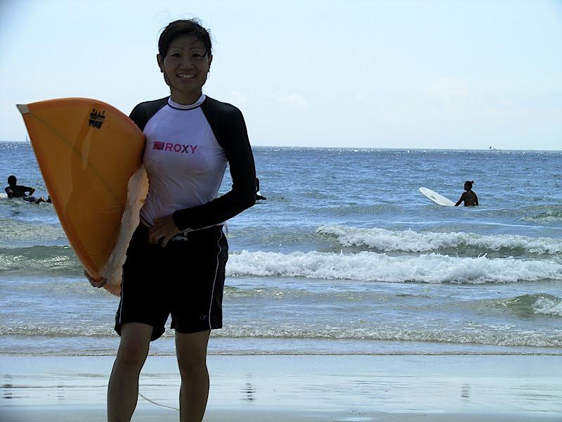 Aya surfing at Izu 13