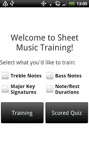 Sheet Music Training