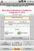 Screenshot of West Morris Rotating Schedule
