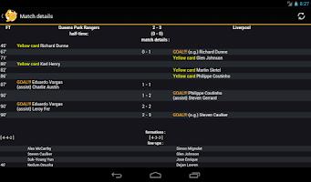 Screenshot of LiveScore Soccer