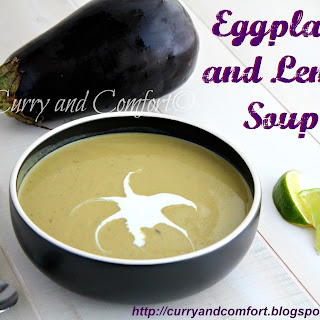 Eggplant and Lentil Cream Curried Soup