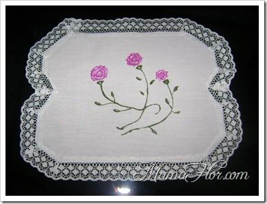 Pintura en tela, diseño I : tapete de rosas