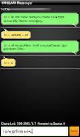Screenshot of SMSDAAK. Free SMS to Pakistan.