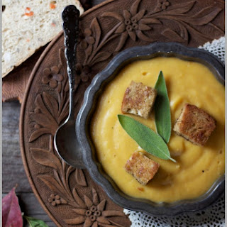 Gingered Squash Bisque with Sage Croutons