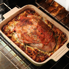 Herb-Roasted Turkey Breast And Stuffing (Thanksgiving For a Small Crowd)