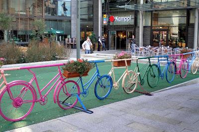 Bicicletas em Helsinquia.