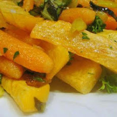 Carrot, Leek and Turnip Saute