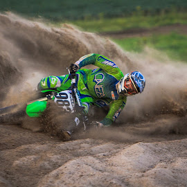 Laying it Low by Kenton Knutson - Sports & Fitness Motorsports ( sand, roost, motocross, mx, dirt )
