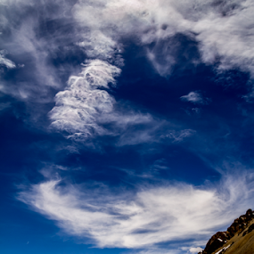 Cloudy by Debajit Bose - Landscapes Cloud Formations ( mountains, snow peak, nature, blue, snow, debajit, white, cloud, canon eos, formation )