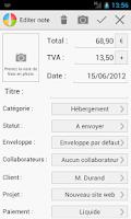 Screenshot of WM Note de frais