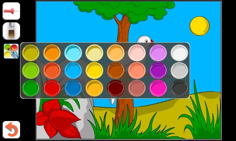 Играть в игру раскраска краска