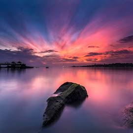 Fury Morning by Jonathan Chua Kiat - Landscapes Waterscapes