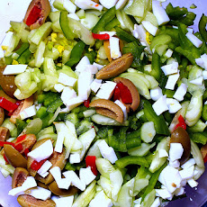 Cauliflower Salad with Green Olives and Capers