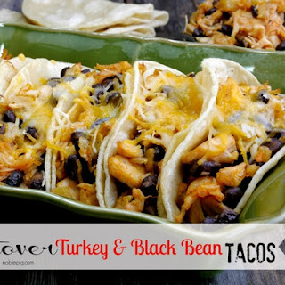 Leftover Turkey & Black Bean Tacos