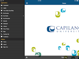 Screenshot of The Cap App