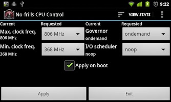 Screenshot of No-frills CPU Control