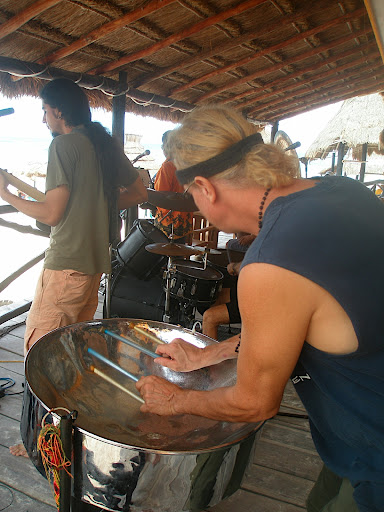 Joseph with steel drum