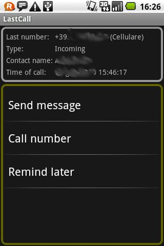 LastCall 1click phone actions