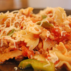 Bowtie Pasta with Italian Sausage and Bell Peppers