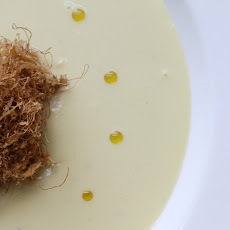 Corn And Potato Leek Soup With Beer Battered Corn Silk