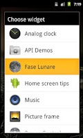 Screenshot of Fase Lunare