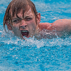 The winner by Vibeke Friis - Sports & Fitness Swimming ( close-up, swimming, man,  )
