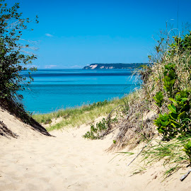 Sleeping Bear Dunes - Dune Climb by Dave Joye - Novices Only Landscapes ( sleeping bear dunes, michigan, national park, dunes, lake michigan, vacation, 2014, pure michigan, traverse city )