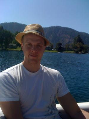 Joel on a boat in Lake Chelan