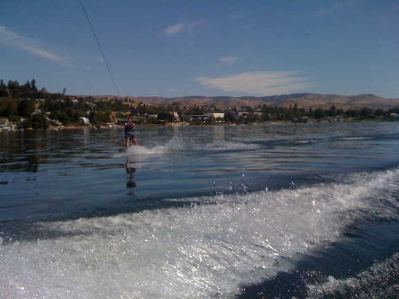 Nick wakeboarding