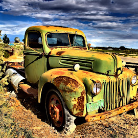 Old Farm Ford by John Willey - Transportation Automobiles ( farm, old, truck, green, rust, ford )