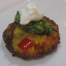 Indian Potato Cakes (Aloo Tikki) With Cilantro Chutney Yogurt
