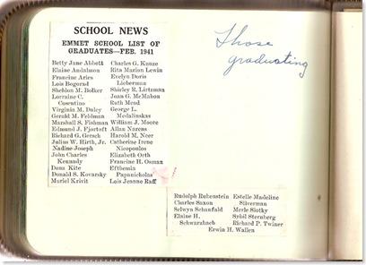 McMAHON, Joan Garrison McMAHON School Autograph Book 03