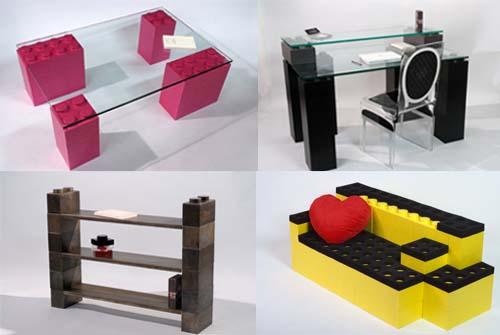 Tu amigo y vecino jeninoman crea muebles con piezas de lego for Crea muebles