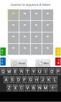 Screenshot of Solver for Ruzzle - Italian