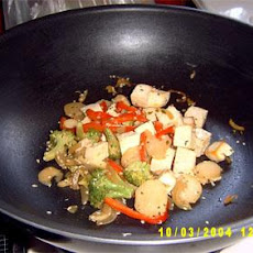 Veggie Tofu Stir-Fry With Sesame Seeds Over Brown Rice