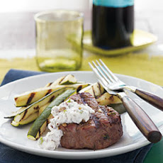 Grilled Beef Tenderloin with Horseradish-Walnut Sauce