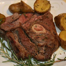 Grilled Shoulder Lamb Chops With Garlic-Rosemary Marinade